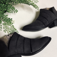 Charcoal Strapy booties